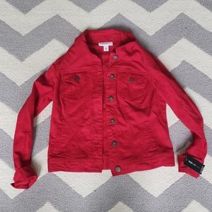 VIBRANT NEW Red Jean Jacket!